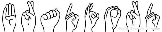 Bradford in Fingersprache für Gehörlose