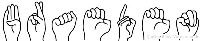 Braeden in Fingersprache für Gehörlose
