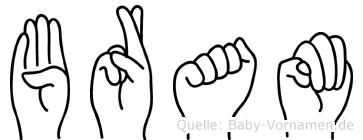 Bram in Fingersprache für Gehörlose