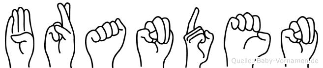 Branden in Fingersprache für Gehörlose