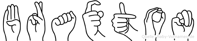 Braxton im Fingeralphabet der Deutschen Gebärdensprache