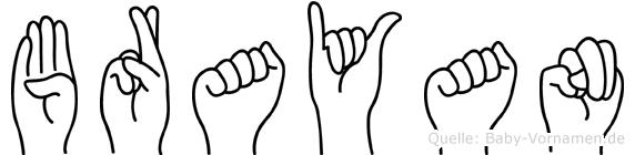 Brayan in Fingersprache für Gehörlose