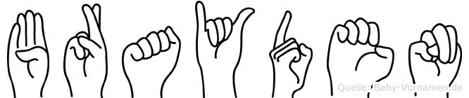Brayden in Fingersprache für Gehörlose