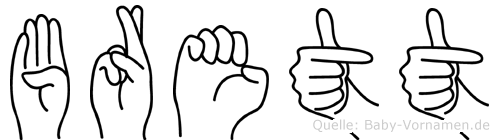 Brett in Fingersprache für Gehörlose