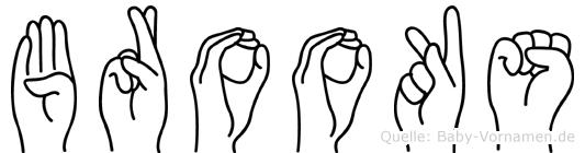 Brooks im Fingeralphabet der Deutschen Gebärdensprache