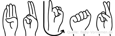 Bujar in Fingersprache für Gehörlose