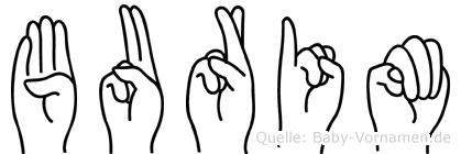 Burim im Fingeralphabet der Deutschen Gebärdensprache