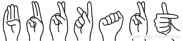 Burkart im Fingeralphabet der Deutschen Gebärdensprache
