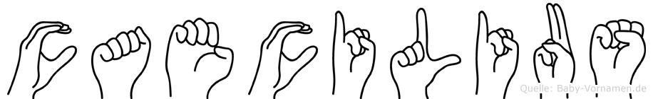 Caecilius in Fingersprache für Gehörlose