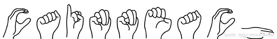 Cainneach in Fingersprache für Gehörlose
