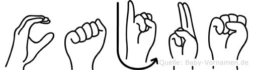 Cajus im Fingeralphabet der Deutschen Gebärdensprache