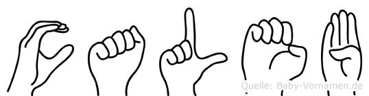 Caleb im Fingeralphabet der Deutschen Gebärdensprache