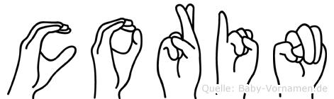 Corin im Fingeralphabet der Deutschen Gebärdensprache