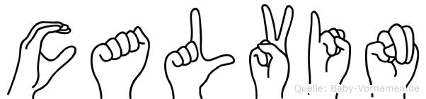 Calvin in Fingersprache für Gehörlose