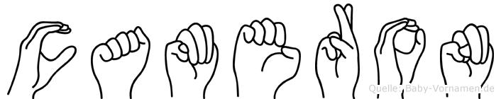Cameron im Fingeralphabet der Deutschen Gebärdensprache