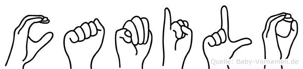 Camilo im Fingeralphabet der Deutschen Gebärdensprache