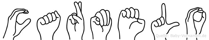 Carmelo im Fingeralphabet der Deutschen Gebärdensprache