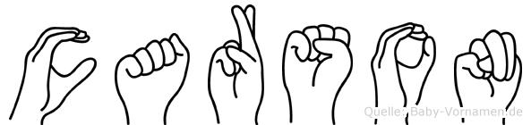 Carson im Fingeralphabet der Deutschen Gebärdensprache