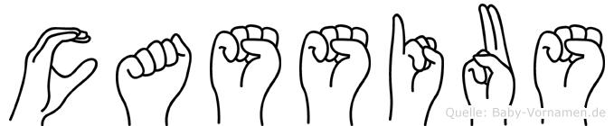 Cassius in Fingersprache für Gehörlose