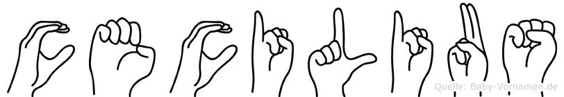 Cecilius im Fingeralphabet der Deutschen Gebärdensprache