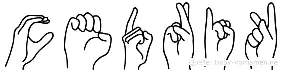 Cedrik in Fingersprache für Gehörlose