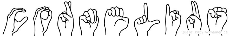 Cornelius in Fingersprache für Gehörlose