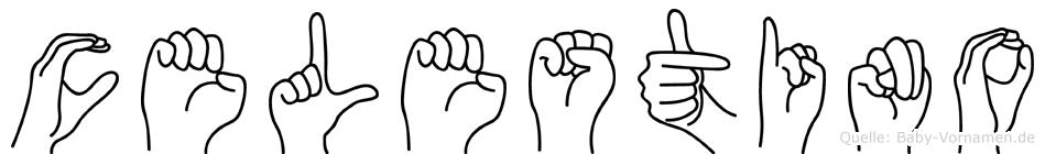 Celestino im Fingeralphabet der Deutschen Gebärdensprache
