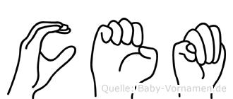Cem in Fingersprache für Gehörlose