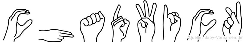 Chadwick im Fingeralphabet der Deutschen Gebärdensprache