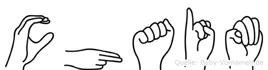 Chaim im Fingeralphabet der Deutschen Gebärdensprache