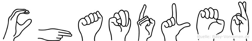 Chandler in Fingersprache für Gehörlose