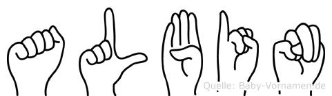 Albin in Fingersprache für Gehörlose