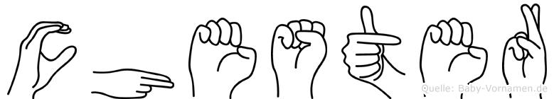 Chester in Fingersprache für Gehörlose