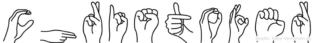 Christofer im Fingeralphabet der Deutschen Gebärdensprache
