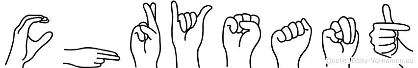 Chrysant im Fingeralphabet der Deutschen Gebärdensprache
