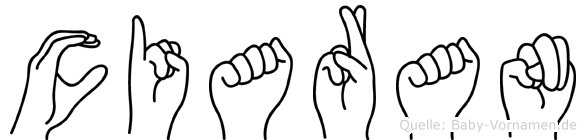 Ciaran in Fingersprache für Gehörlose