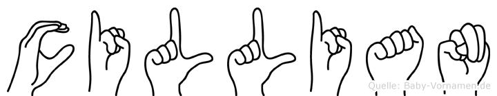Cillian in Fingersprache für Gehörlose