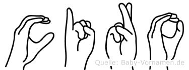 Ciro im Fingeralphabet der Deutschen Gebärdensprache