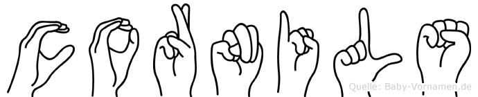 Cornils im Fingeralphabet der Deutschen Gebärdensprache