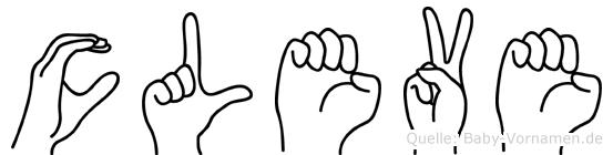 Cleve in Fingersprache für Gehörlose