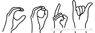 Cody in Fingersprache für Gehörlose