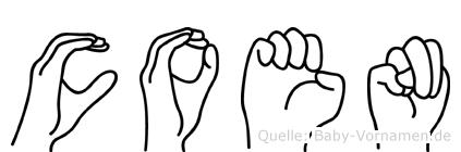 Coen im Fingeralphabet der Deutschen Gebärdensprache