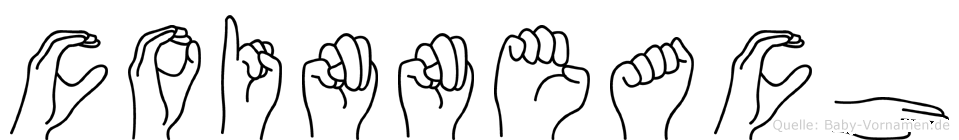Coinneach im Fingeralphabet der Deutschen Gebärdensprache