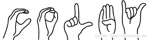 Colby in Fingersprache für Gehörlose