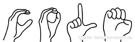 Cole in Fingersprache für Gehörlose