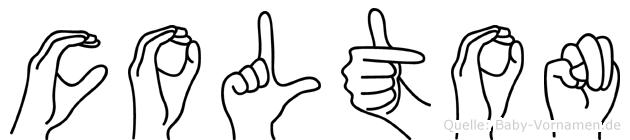 Colton im Fingeralphabet der Deutschen Gebärdensprache