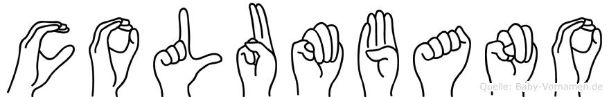 Columbano im Fingeralphabet der Deutschen Gebärdensprache