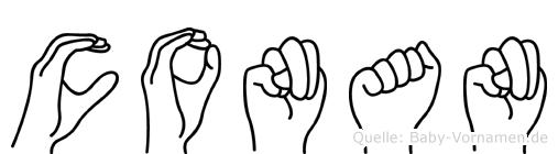 Conan in Fingersprache für Gehörlose