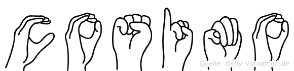Cosimo im Fingeralphabet der Deutschen Gebärdensprache