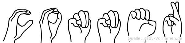 Conner im Fingeralphabet der Deutschen Gebärdensprache